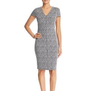 Michael Kors Plaid Jacquard Bodycon Dress Size XS